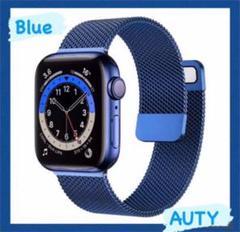 """Thumbnail of """"Apple watch ミラネーゼループバンド アップルウォッチ 韓国 ブルー"""""""