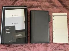 """Thumbnail of """"KNOX 限定 システム手帳  ピアス ナローサイズ ネイビー リング径13mm"""""""