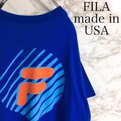 """Thumbnail of """"【USA製】フィラ バックプリント ワンポイント 半袖Tシャツ ブルー XL相当"""""""