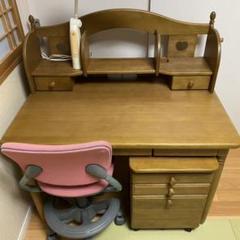 """Thumbnail of """"カリモク家具 子供用 勉強机 学習机 椅子付き 電気付き"""""""