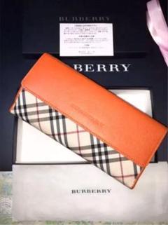 日本製牛革 BURBERRY バーバリー 長財布 財布 レディース バッグ