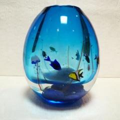 "Thumbnail of ""ベネチアンガラス 花瓶 ガラス工芸品 ガラスアート 水族館 魚 ベネチアングラス"""