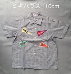 """Thumbnail of """"ミキハウスの半袖チェックシャツ"""""""