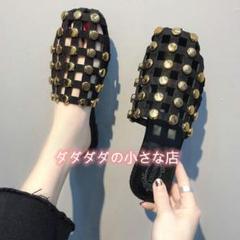 "Thumbnail of ""2021夏の新型の平底滑り止めリベットミュラー靴!"""