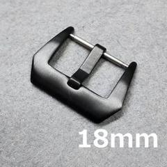 """Thumbnail of """"時計バックル フィッシュテール型 尾錠幅 18mm ブラック"""""""