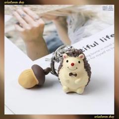 "Thumbnail of ""新品入荷★超可愛い★ハリネズミ★きのこ★茶色★キーホルダー バッグチャーム"""