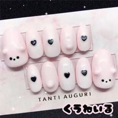 "Thumbnail of ""量産型 クマ ガーリー ピンク ネイルチップ No.6"""