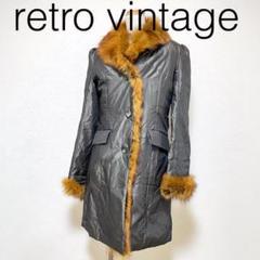 "Thumbnail of ""Y109*vintage 定番人気カラー ファーコート 黒ブラック"""