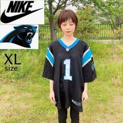 "Thumbnail of ""【NFL】NIKE パンサーズ 黒 ゲームシャツ スウッシュロゴ チームロゴ"""