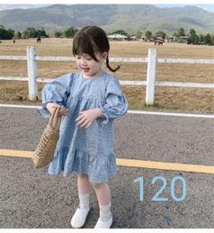 "Thumbnail of ""新品未開封!120cm 花柄長袖ワンピース 女の子"""