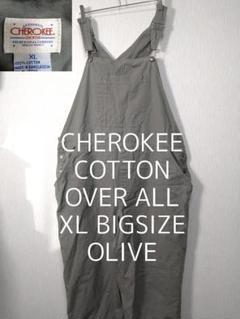 """Thumbnail of """"XL CHEROKEE チェロキー ビッグ コットン オーバーオール オリーブ"""""""