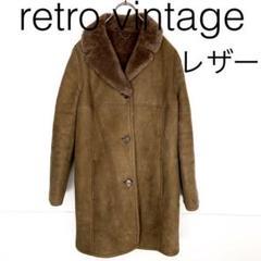 "Thumbnail of ""W1587*英国製 vintage 羊革 ロングレザーコート 茶ブラウン"""