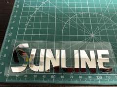 """Thumbnail of """"SUN 鏡面ミラーシルバー カッティングステッカー"""""""