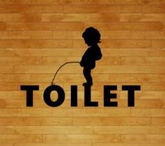 "Thumbnail of ""トイレ カワイイオシャレステッカー カッティングステッカー toilet"""