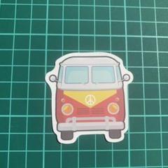 """Thumbnail of """"乗り物 車 バス ピースサイン 男の子 パンク 防水ステッカー【新品】★"""""""
