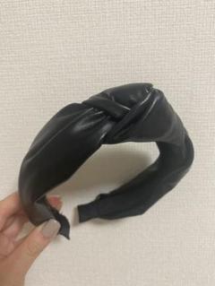 "Thumbnail of ""ZARA カチューシャ レザー 新品"""