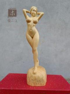 """Thumbnail of """"木彫 置物 裸婦像 美人像 職人手作 18cm5"""""""