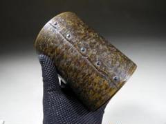 "Thumbnail of ""●新潟の金工師 高橋重弘 時代物 いい色になりました 古い茶筒 古銅 銅製"""