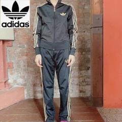 """Thumbnail of """"【adidas】人気 セットアップ ジャージ上下 レディースM ブラック 刺繍黒"""""""