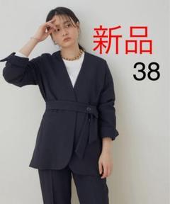 """Thumbnail of """"新品 アダムエロペ【セットアップ対応】 リネンライクジャケット 38"""""""