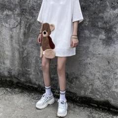 """Thumbnail of """"韓国ファッション 原宿 個性的 男女兼用 クマ テディーベア Tシャツ"""""""