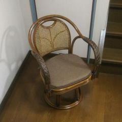 """Thumbnail of """"ラタンチェア  360°回転座椅子 ハイタイプ 籐製品 アンティーク家具"""""""