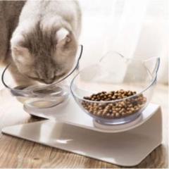 """Thumbnail of """"猫耳 フードボウル 犬猫兼用 食器 ペット 餌やり 透明 【191】P0421"""""""