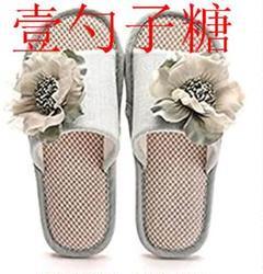 """Thumbnail of """"春夏用かわいい日本風リネンスリッパ女性用室内装飾四季綿麻綴りファッ"""""""