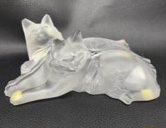 """Thumbnail of """"ラリック クリスタル 愛する2匹の猫 置物 コレクション ガラス 彫刻 箱無し"""""""