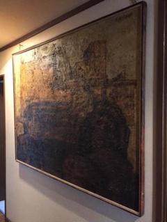 """Thumbnail of """"Vintage 道展出展の油絵 特大size 50年以上前の絵画"""""""