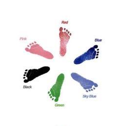 "Thumbnail of ""【訳あり】赤ちゃん 手足型スタンプ お祝い 汚れない スタンプ 簡単 ピンク"""