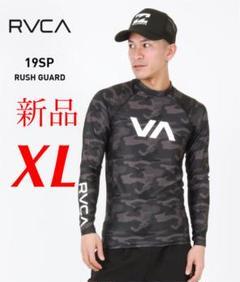 "Thumbnail of ""新品 ブラック迷彩 RVCA ラッシュガード トレーニング"""