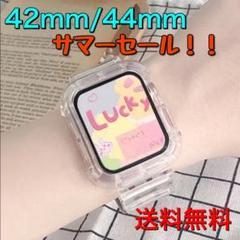 "Thumbnail of ""アップルウォッチ バンド クリア スケルトン 一体型 男女兼用 42㎜/44㎜"""