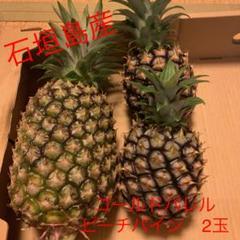 """Thumbnail of """"石垣島産 ゴールドパイン ピーチパイン2玉 セット"""""""