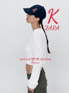 "Thumbnail of ""新品未使用 ZARA ザラ イニシャル キャップ 帽子 K"""