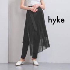 "Thumbnail of ""hyke ハイク オーガンジー ラップ プリーツ スカート ブラック"""