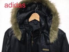 "Thumbnail of ""アディダス  レザー  ジャケット  本革  中綿  フード  adidas"""