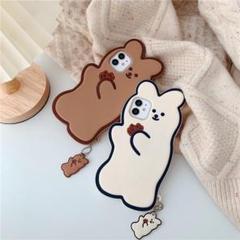 """Thumbnail of """"Cakeの熊  iPhone 12 ケース  ブラウン"""""""