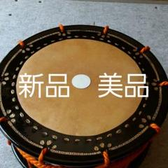 "Thumbnail of ""能楽/民謡/締太鼓(牛皮、クレモナ紐、黒梨地胴)"""