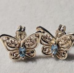 "Thumbnail of ""STAR JEWELRY シルバー925 Aqua Butterflyピアス"""