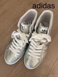 "Thumbnail of ""【希少】adidas ハイカット シルバー スニーカー"""