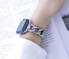"""Thumbnail of """"Apple watch チェーンベルト 金属ベルト シルバー 42mm/44mm"""""""