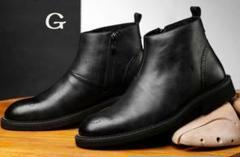 "Thumbnail of ""本革マーティンブーツ 本革ブーツ ショートブーツ 本革 復古の紳士靴9"""