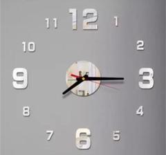 "Thumbnail of ""3Dウォールクロック シルバー DIY壁時計 ウォールステッカー 韓国 立体時計"""