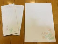 "Thumbnail of ""未使用 鳩居堂 便せんセット コスモス"""