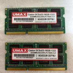 "Thumbnail of ""UMAX DDR3PC10600.CL9 8GB2枚"""