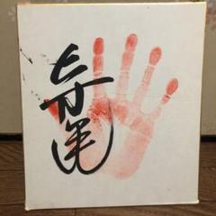 "Thumbnail of ""寺尾 サイン 手形付き 相撲"""