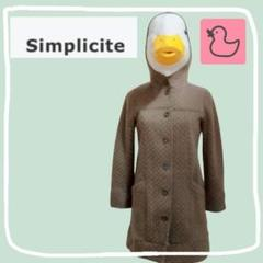 "Thumbnail of ""simplicite キルティングフード付きコート"""