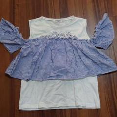"Thumbnail of ""BLUE CROSS GIRLS  LL(170cm) オフショルTシャツ"""