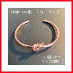 "Thumbnail of ""大人気‼️ Stainless 韓国 ノットモチーフバングル シルバーアクセサリー"""